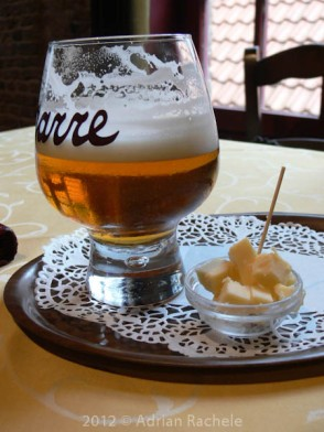 De Garre beer and cheese.